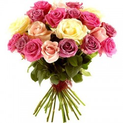 Bukiet 24 Róż Kolorowych