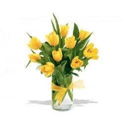 Bukiet 10 Tulipanów Żółtych