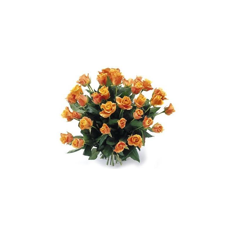 Bukiet 35 Róż Pomarańczowych